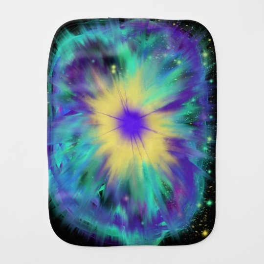 Purple Yellow Space Starburst Baby Indie Art Burp