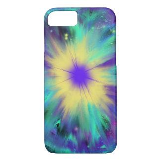 Purple Yellow Space Starburst Indie Art iPhone 8/7 Case