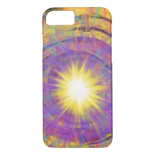 Purple Yellow Star Abstract Art Painting Design iPhone