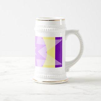 purple yellow stars mug