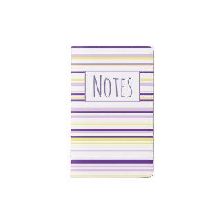Purple & Yellow Stripe Custom Pocket Notebook