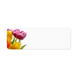 Purple & Yellow Tulips Avery Return Address Labels