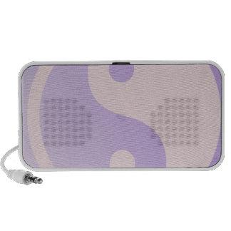 Purple Yin Yang Doodle Speaker