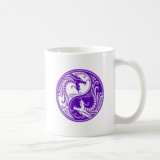 Purple Yin Yang Dragons Mug