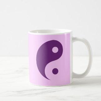 Purple Yin Yang Symbol Mug