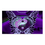 Purple Yin Yang with Mandala Heart Pack Of Standard Business Cards