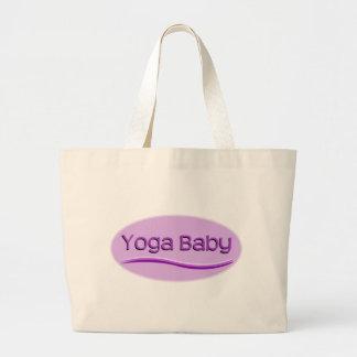 Purple Yoga Baby Jumbo Tote Bag