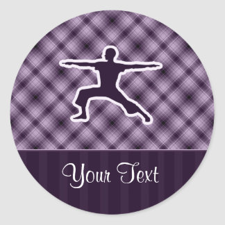 Purple Yoga Sticker