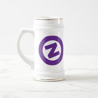 Purple Z on white stien Beer Stein