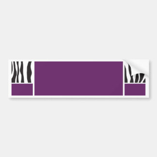 Purple Zebra Invite Bumper Sticker