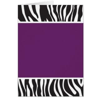 Purple Zebra Invite Card
