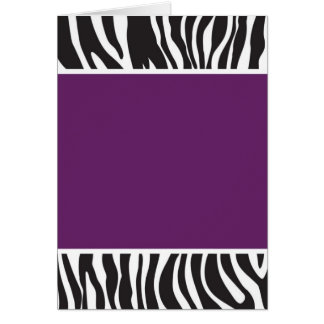 Purple Zebra Invite Greeting Card