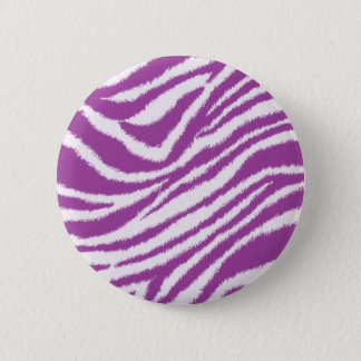 Purple Zebra print 6 Cm Round Badge