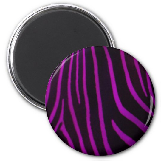 Purple Zebra Print Magnet