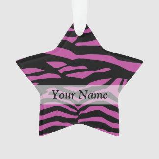 Purple zebra print pattern ornament