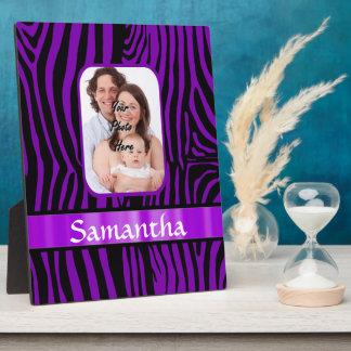 Purple zebra print plaque