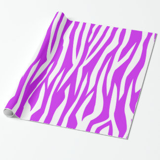 Purple Zebra Print Wrapping Paper