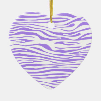 Purple Zebra stripe pattern Ceramic Heart Decoration