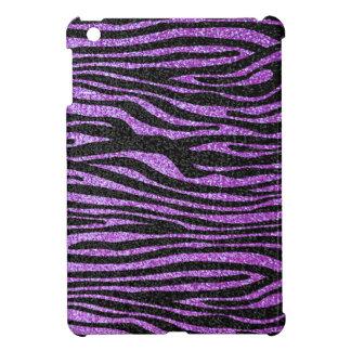 Purple Zebra stripe pattern (faux glitter bling) Cover For The iPad Mini