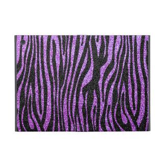 Purple Zebra stripe pattern (faux glitter bling) iPad Mini Cover