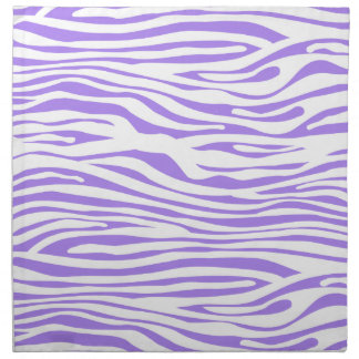 Purple Zebra stripe pattern Napkin