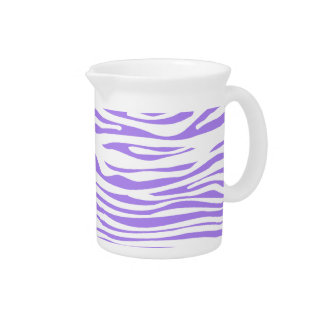 Purple Zebra stripe pattern Pitcher