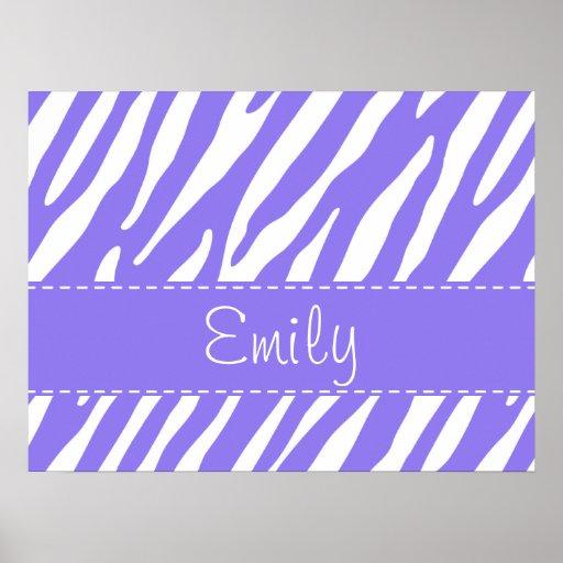 Purple Zebra Stripe Pattern Print