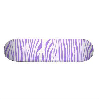 Purple Zebra stripe pattern Skateboard