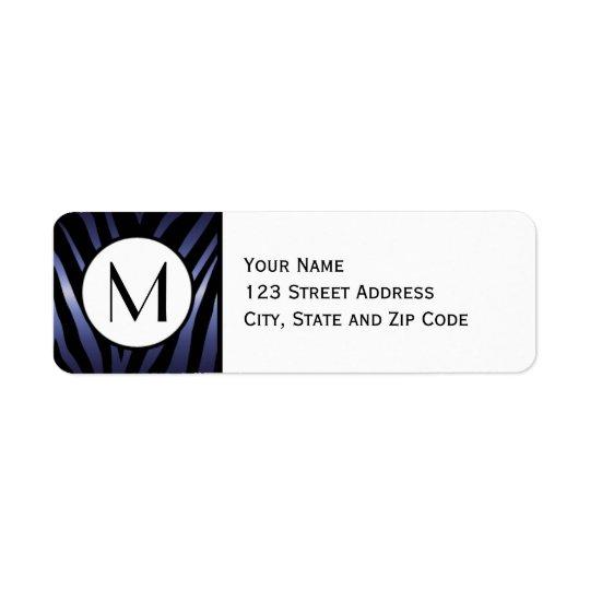 Purple Zebra Stripe Return Address Label