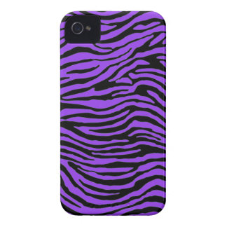 purple zebra stripes iPhone 4 cases