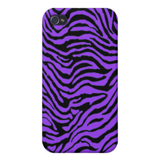 purple zebra stripes Iphone Case iPhone 4/4S Cases