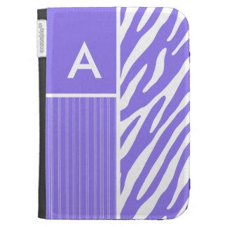 Purple Zebra Stripes; Stripe Kindle Folio Case