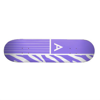 Purple Zebra Stripes; Stripe Skateboard Deck