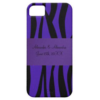Purple zebra stripes wedding favors iPhone 5 case
