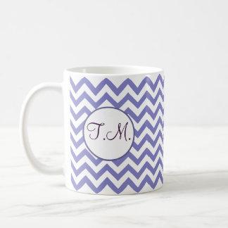 Purple Zigzag Monogrammed Coffee Mug