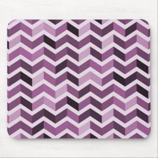 Purple Zigzag Pattern Mousepads