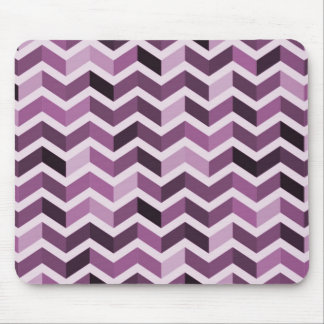 Purple Zigzag Pattern Mouse Pad