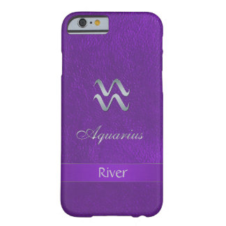 Purple Zodiac Sign Aquarius Barely There iPhone 6 Case