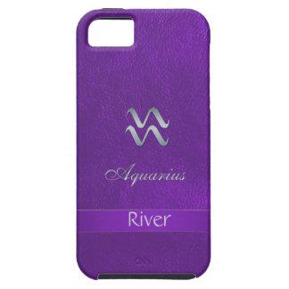 Purple Zodiac Sign Aquarius iPhone 5 Case