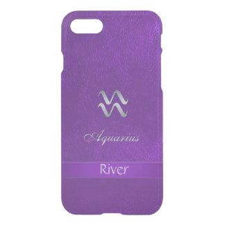 Purple Zodiac Sign Aquarius iPhone 7 Case