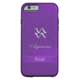 Purple Zodiac Sign Aquarius Tough iPhone 6 Case