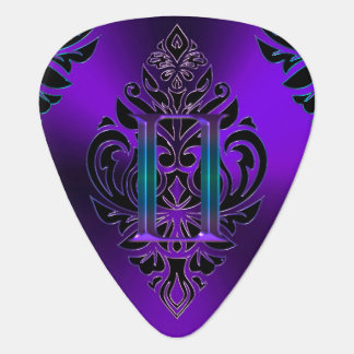 Purple Zodiac Sign Gemini Tribal Guitar Pick