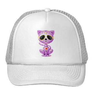 Purple Zombie Sugar Kitten Trucker Hat