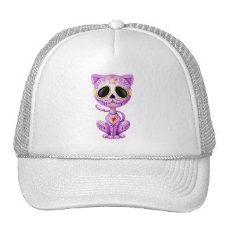 Purple Zombie Sugar Kitten Trucker Hats
