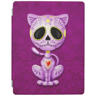 Purple Zombie Sugar Kitten iPad Cover