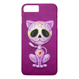 Purple Zombie Sugar Kitten iPhone 8 Plus/7 Plus Case