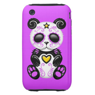 Purple Zombie Sugar Panda iPhone 3 Tough Cases