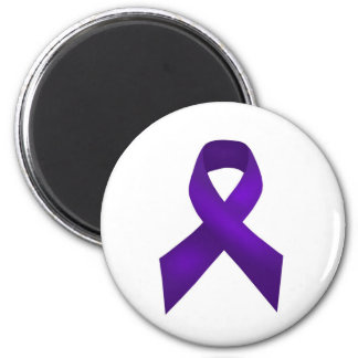 PurpleAwarenessRibbon.jpg Fridge Magnets