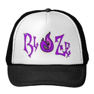 PurpleBlaZe flame dragon trucker hat