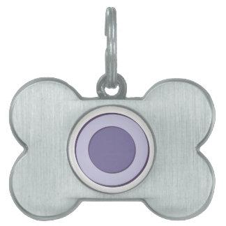 PurpleInLilac Dots Pet Tag